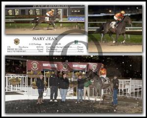 Why yes, that iIS snow in the winners' circle.  Totally didn't care and absolutely worth the weather and traffic!